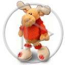 łoś zając zabawki zające nici pluszaki