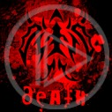 znak diabeł rogi death znaczek