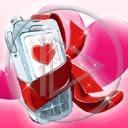 serce telefon komórka serduszka prezent komórki prezenty telefony serduszko serca