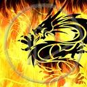 ogień smok płomienie symbol dragon płomień smoki symbole
