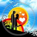 serce słońce miłość serduszka para zakochani miłosne serduszko serca słońca