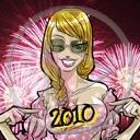 zabawa kobieta sylwester fajerwerki postacie postać kobiety osoby osoba