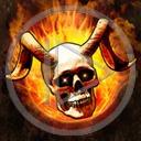 ogień kości kość czaszka szkielet śmierć rogi płomień czaszki czacha czachy szkielety