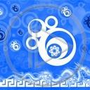 smok wzór różne wzory niebieski