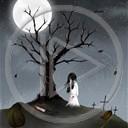 miłość drzewo noc księżyc horror straszne