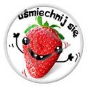 owoce buzia owoc truskawka truskawki napis tekst uśmiechnij się truskaweczka