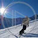 góry sport zima śnieg snowboard dziewczyna