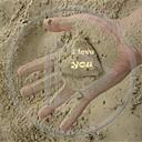 serce miłość piasek dłoń ręka miłosne i love you serca rece