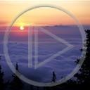 słońce noc księżyc widok natura zachód słońca