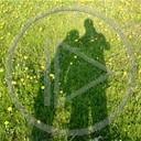 miłość ona ludzie razem cień kochać