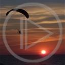 słońce morze sport paralotnia zachód słońca