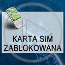 telefon komórka napis telefony tekst karta sim zablokowana