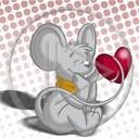 serce miłość kocham misiek maskotka sympatia Lubie myszka