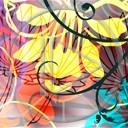 wzorki różne wzory flower power abstrakcja