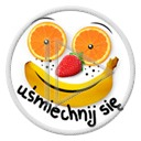 uśmiech owoce buzia owoc banan truskawki banany uśmiechnij się buzie pomarańcze