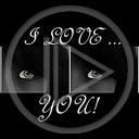 miłość oko love kocham cię i love you czarno-białe oczy