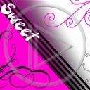 Sweet wzorki różne różowe czarne