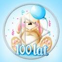 królik urodziny balony balon maskotka urodzinowe króliki 100 lat