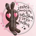serce miłość teksty zając zajączek napis miłosne tekst serca zajączki napisy jesteś moją słodką czekoladką