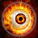 oczy ogień oko płomienie wzrok gały płomień spojrzenie gałka oczna patrzeć źrenica źrenice