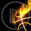 piłka gra płomienie koszykówka kosz płomień piłki piłka do kosza
