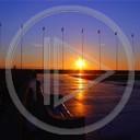 morze widok zachód słońca krajobrazy widoki plener molo