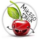 buźka owoce buzia owoc wisienki wisienka wiśnia napis miłego dnia