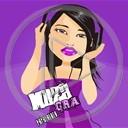 muzyka gra słuchawki Muza emotki dziewczyna laska fiolet fioletowa