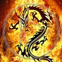 ogień smok znak płomienie symbol wzór dragon znaki smoki symbole