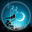 zwierzęta ptaki ptak noc księżyc ptaszek śpiew widok ptaszki słowik