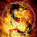 ogień smok znak symbol wzór dragon płomień znaki smoki symbole