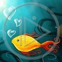 zwierzęta serce ryba miłość ryby woda akwarium serduszka rybki rybka miłosne serduszko serca