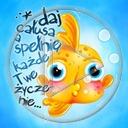 zwierzęta ryba ryby rybki napis rybka życzenia tekst złota rybka daj całusa a spełnię każde twe życzenie