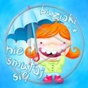 deszcz parasol parasolka napis dziewczynka buziaki tekst dziewczynki nie smutaj się