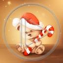 miś misiek laska Mikołaj święta misie misio Boże Narodzenie misiaczek świąteczne