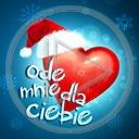 serce miłość czapka święta napis Boże Narodzenie miłosne tekst dla ciebie serca świąteczne ode mnie czapki