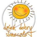 słońce uśmiech buzia słoneczko napis słonko tekst dzień dobry buzie