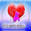 serce miłość miś misie misio napis tekst myśliwy serce-samotny myśliwy serce to samotny