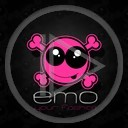 buźka czaszka różowa girl your czaszki czarna emo czacha emotki emotka róż fashion milość emo