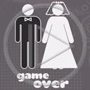 ślub para game over małżeństwo para młoda koniec gry