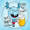 zwierzęta piwo łoś napis łosie tekst zwierze nie bądź uosiu cho na piwo