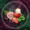 kwiat róża roślina liść owoc truskawka śmietana perła rośliny