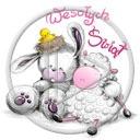 zwierzęta owca baran kurczak święta wielkanoc zając zajączek owieczka życzenia kurczaczek baranek wesołych świąt świąteczne