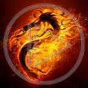 ogień smok symbol dragon płomień smoki