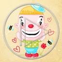 serce zabawa klown cyrk serca klowni