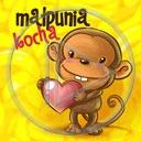 zwierzęta serce miłość małpa serduszka miłosne serduszko małpy serca zwierze małpunia kocha