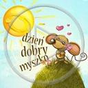 zwierzęta serce słońce miłość gryzonie myszka napis myszko myszki tekst dzień dobry gryzoń