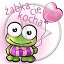 serce miłość żaba balon żabka napis miłosne tekst żaby żabki serca balonik żabka cię kocha