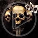 muzyka kości czaszka śmierć nuty horror czaszki straszne czacha trupy czachy