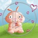 królik trawka zwierzęta serce miłość niebo miłosne serca króliki